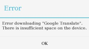 insufficient_space_on_device